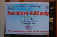 "Workshop on ""Women in Research - FOSS Paradigm"""